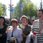 Участие коллектива предприятия в митинге и торжественных мероприятиях, посвященные Дню Победы.